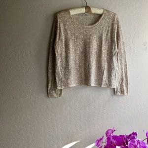 Garnet Hill Merino Wool Neutral Print Sweater